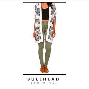 Bullhead   Olive Green High Rise Skinniest Jeans